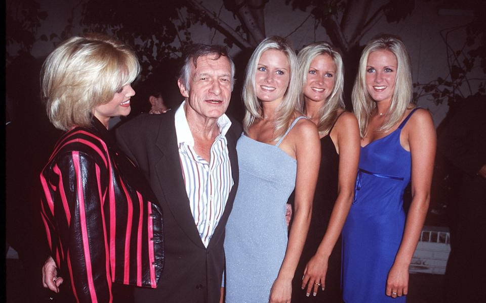 Hugh Hefner during Party for the Backstreet Boys at The Chateau Marmont Hotel - Getty Images