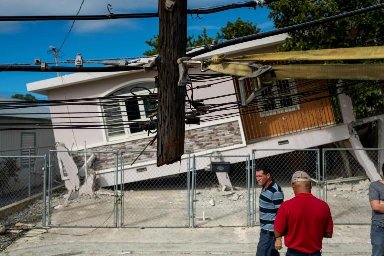 Puerto Rico has been shaken by a series of strong earthquakes since December 28. This house was damaged by one that struck on January 6, 2020