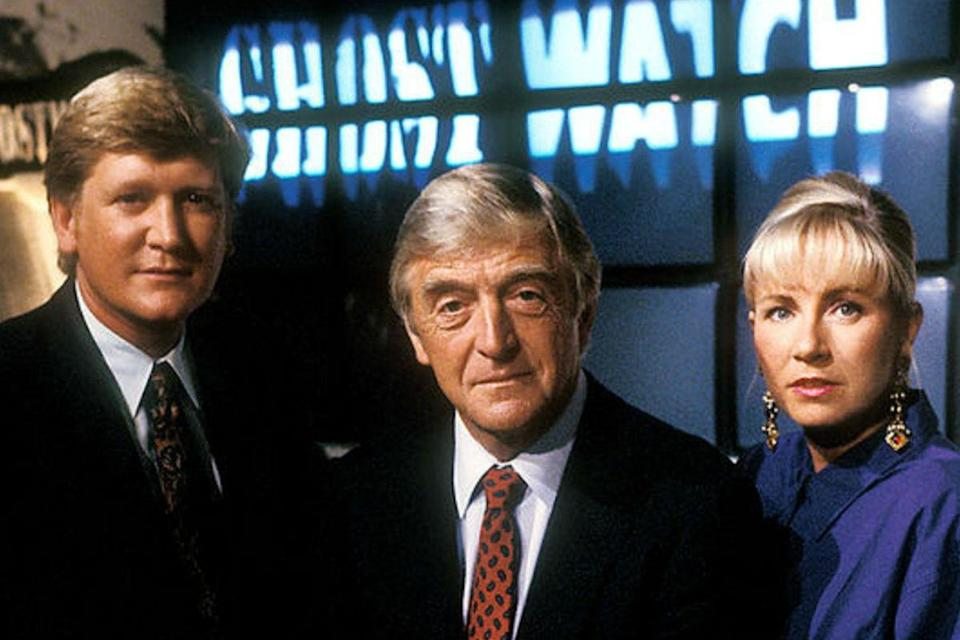 <p>The bizarrely ill-conceived BBC horror spoof 'Ghostwatch' from 1992, in which Sarah Greene, Mike Smith and Michael Parkinson hosted a 'live' ghost hunt at a house in north west London, appalled the nation, its documentary style leading many to believe it was real. A reported 30,000 people contacted the BBC following its broadcast. It was banned from broadcast for a decade.</p>