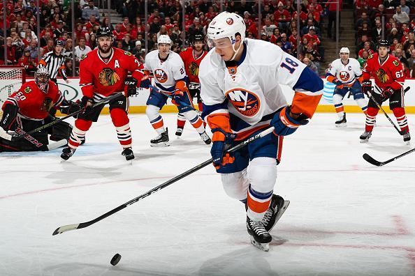 "<a class=""link rapid-noclick-resp"" href=""/nhl/players/5366/"" data-ylk=""slk:Ryan Strome"">Ryan Strome</a> of the <a class=""link rapid-noclick-resp"" href=""/nhl/teams/nyi/"" data-ylk=""slk:New York Islanders"">New York Islanders</a> approaches the puck in the first period against the <a class=""link rapid-noclick-resp"" href=""/nhl/teams/chi/"" data-ylk=""slk:Chicago Blackhawks"">Chicago Blackhawks</a> at the United Center on March 3, 2017 in Chicago, Illinois. (Getty Images)"