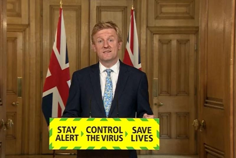 Screen grab of Digital, Culture, Media and Sport Secretary Oliver Dowden during a media briefing in Downing Street, London, on coronavirus (COVID-19). (Photo by PA Video/PA Images via Getty Images)