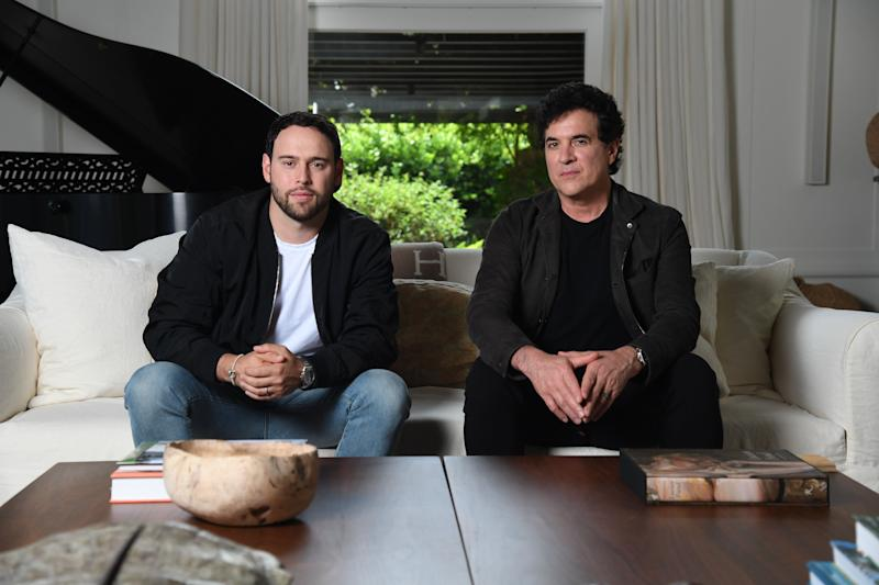 Scooter Braun (left) and Scott Borchetta  (Photo: Kevin Mazur via Getty Images)