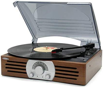 Jensen JTA-222 3 Speed Stereo Turntable with AM/FM Stereo Radio