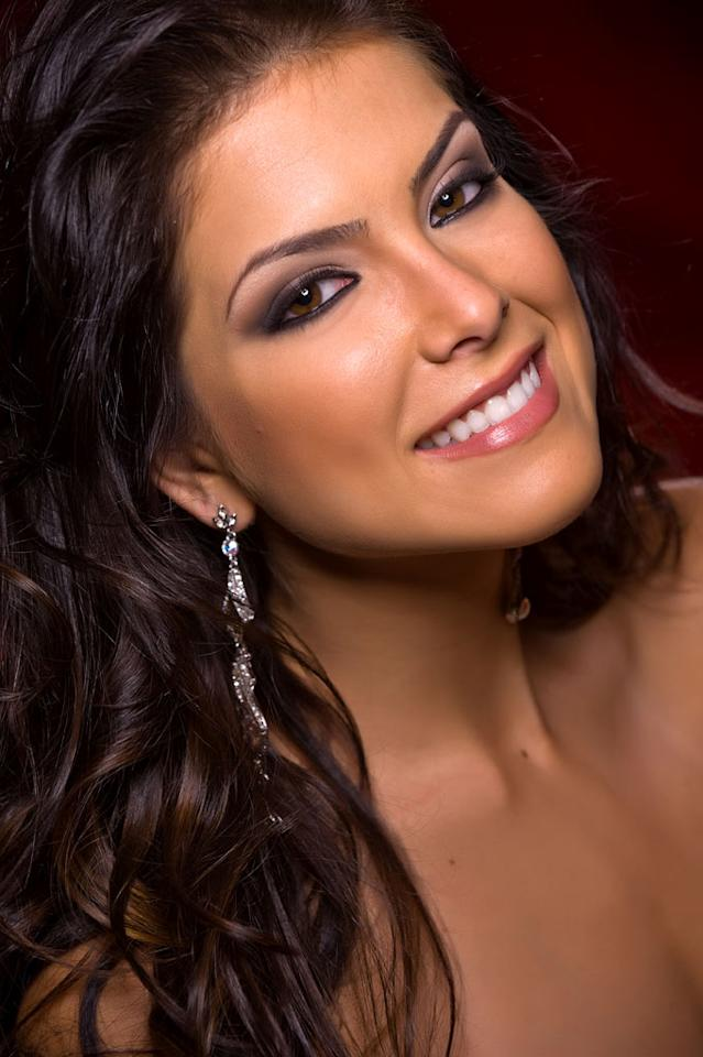 Debora Lyra, Miss Brazil 2010, competes for the title of Miss Universe 2010 during the 59th Annual Miss Universe competition from the Mandalay Bay Resort and Casino, in Las Vegas, Nevada.