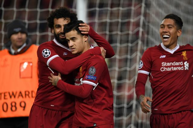 "<a class=""link rapid-noclick-resp"" href=""/soccer/players/mohamed-salah/"" data-ylk=""slk:Mohamed Salah"">Mohamed Salah</a>, <a class=""link rapid-noclick-resp"" href=""/soccer/players/philippe-coutinho/"" data-ylk=""slk:Philippe Coutinho"">Philippe Coutinho</a>, <a class=""link rapid-noclick-resp"" href=""/soccer/players/roberto-firmino/"" data-ylk=""slk:Roberto Firmino"">Roberto Firmino</a> and <a class=""link rapid-noclick-resp"" href=""/soccer/players/sadio-mané/"" data-ylk=""slk:Sadio Mane"">Sadio Mane</a> (not pictured) spearheaded <a class=""link rapid-noclick-resp"" href=""/soccer/teams/liverpool/"" data-ylk=""slk:Liverpool"">Liverpool</a>'s drubbing of Spartak Moscow. (Getty)"