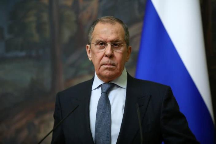Russia's Foreign Minister Sergei Lavrov meets Saudi Arabia's Foreign Minister Prince Faisal bin Farhan Al Saud in Moscow