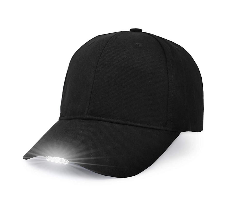 """<h3><a href=""""https://amzn.to/38PJ6MZ"""" rel=""""nofollow noopener"""" target=""""_blank"""" data-ylk=""""slk:LED-Light Baseball Cap"""" class=""""link rapid-noclick-resp"""">LED-Light Baseball Cap</a></h3><br><strong>Mia</strong><br><br><strong>How She Discovered It:</strong> """"Amazon search: dog poop solutions.""""<br><br><strong>Why It's A Hidden Gem: </strong>""""I bought this as a present for my dad. He always walks our dog at night and the backyard and neighborhood is awfully dark. It's hard to hold a flashlight AND pick up dog poop, so this hat offers a very special solution. Dad loved it and so did Skippy.""""<br><br><strong>UltraKey</strong> Hands-Free LED Light Baseball Cap , $, available at <a href=""""https://www.amazon.com/UltraKey-Baseball-Outdoor-Breathable-Snapback/dp/B01MXFJ86B/ref=sr_1_4?ie=UTF8&qid=1548694661&sr=8-4&keywords=led+light+baseball+cap"""" rel=""""nofollow noopener"""" target=""""_blank"""" data-ylk=""""slk:Amazon"""" class=""""link rapid-noclick-resp"""">Amazon</a>"""