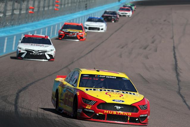 "<a class=""link rapid-noclick-resp"" href=""/nascar/sprint/drivers/1542/"" data-ylk=""slk:Joey Logano"">Joey Logano</a> has won two of the first four races of the 2020 season. (Chris Graythen/Getty Images)"