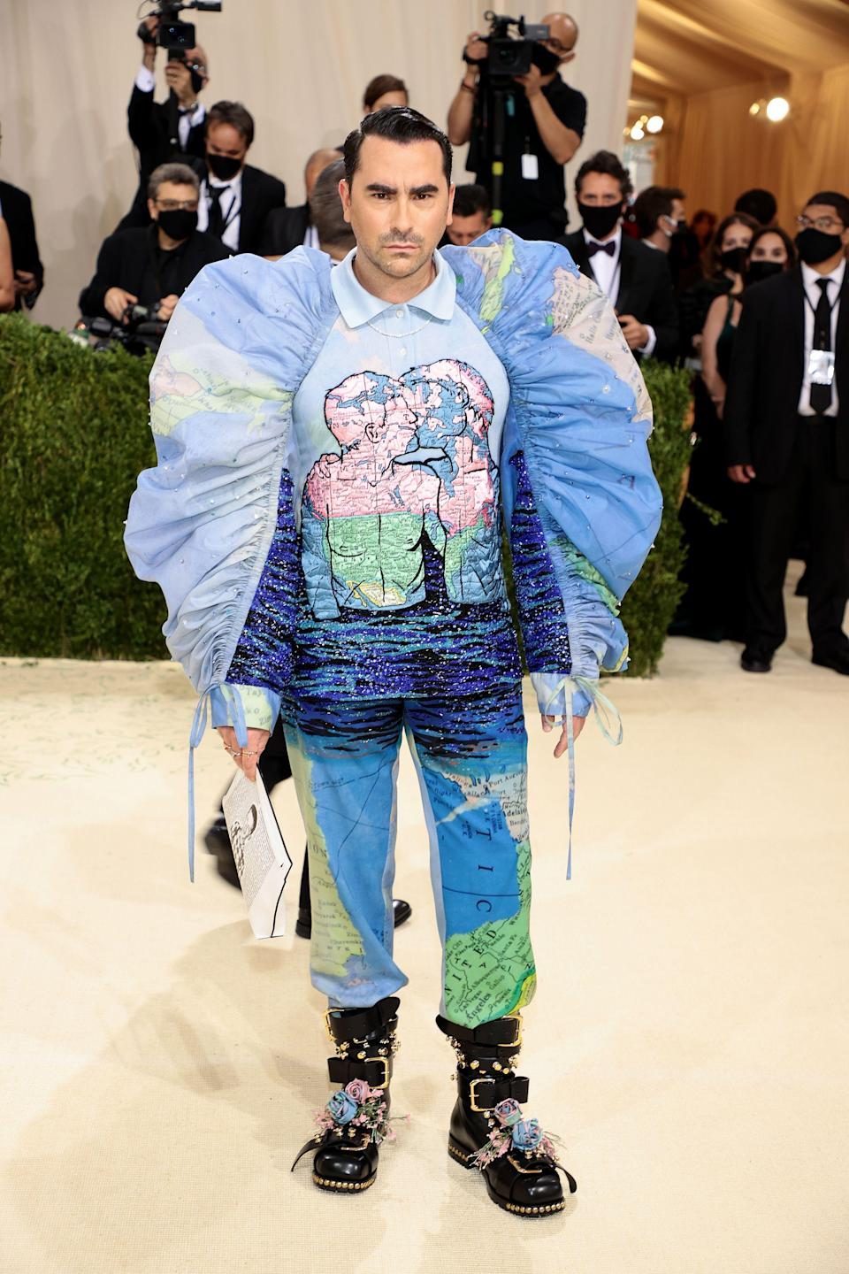 <p>Levy wore a custom-made Loewe outfit for the night. </p>