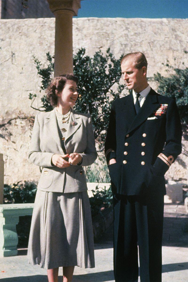 Photo credit: The Queen and Prince Philip during their honeymoon in Malta, 1947 - Getty Images