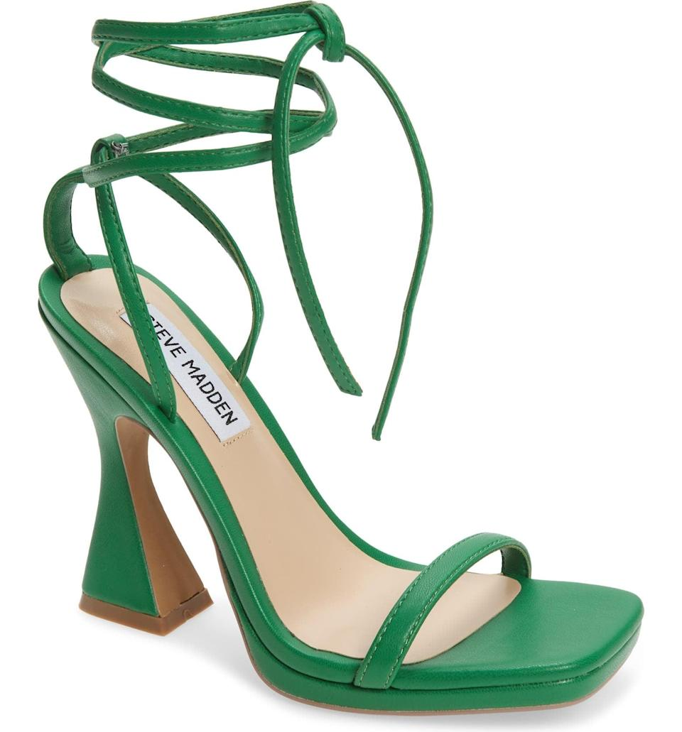 <p>Wear this <span>Steve Madden Lafayette Sandal</span> ($100) with a ruched mini dress for a sexy look.</p>