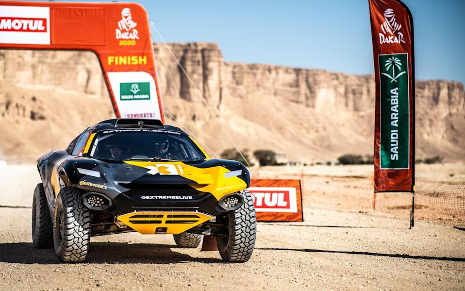Motor racing car in Dakar rally - Vaclav Duska Jr