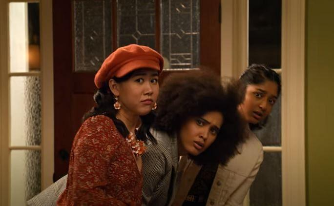 """<div class=""""paragraphs""""><p>Ramona, Fabiola, and Devi in 'Never Have I Ever' season 2</p></div>"""