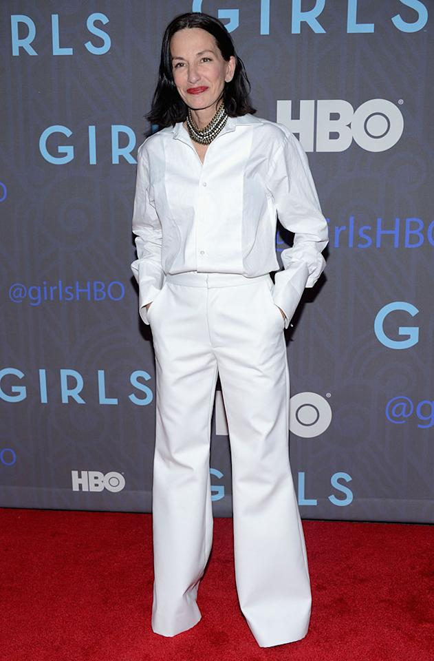 "Cynthia Rowley attends HBO's premiere of ""Girls"" Season 2 at the NYU Skirball Center on January 9, 2013 in New York City."