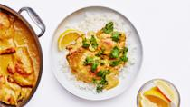 """This version of the classic East African-Indian chicken curry will help you see your broiler in a whole new light. <a href=""""https://www.bonappetit.com/recipe/kuku-paka?mbid=synd_yahoo_rss"""" rel=""""nofollow noopener"""" target=""""_blank"""" data-ylk=""""slk:See recipe."""" class=""""link rapid-noclick-resp"""">See recipe.</a>"""