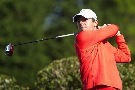 May 3, 2014; Charlotte, NC, USA; Rory McIlroy tees off on the fifth hole during the third round of the Wells Fargo Championship at Quail Hollow Club. Mandatory Credit: Joshua S. Kelly-USA TODAY Sports