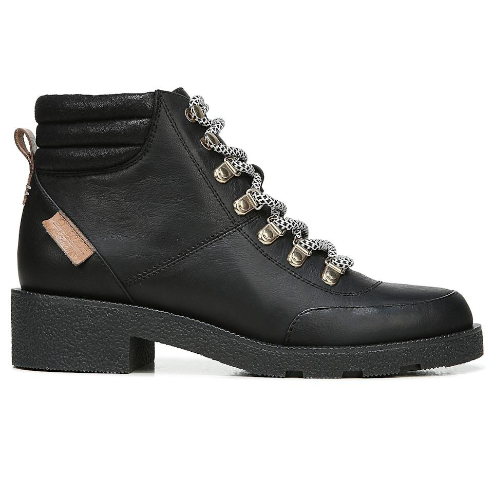 """<p>The lace-up boot is no longer meant only for the trails</p> <p><strong>Buy It! </strong><a href=""""https://www.drschollsshoes.com/product/dr-scholls-orig-collection-womens-womens-tucker-hiker-boot-5264600/black-leather-06380"""" rel=""""nofollow noopener"""" target=""""_blank"""" data-ylk=""""slk:Dr. Scholl's &quot;Tucker&quot; Boot, $140; drschollsshoes.com"""" class=""""link rapid-noclick-resp"""">Dr. Scholl's """"Tucker"""" Boot, $140; drschollsshoes.com</a></p>"""