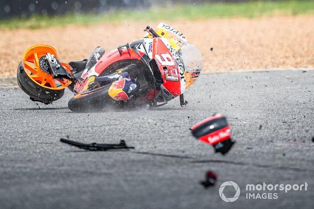 "Moto de Marc Marquez, Repsol Honda Team, tras la caída <span class=""copyright"">Chang International Circuit</span>"
