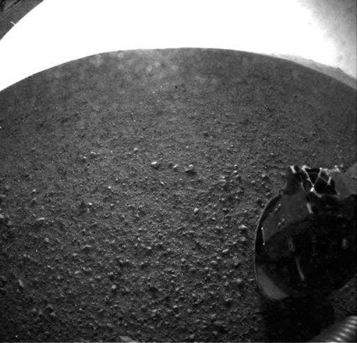 Image provided by the Jet Propulsion Laboratory shows one of the first images taken by NASA's Curiosity rover of the surface of Mars on August 6. The landing of the nuclear-powered Curiosity opened a new chapter in the history of interplanetary exploration by touching down on the Red Planet