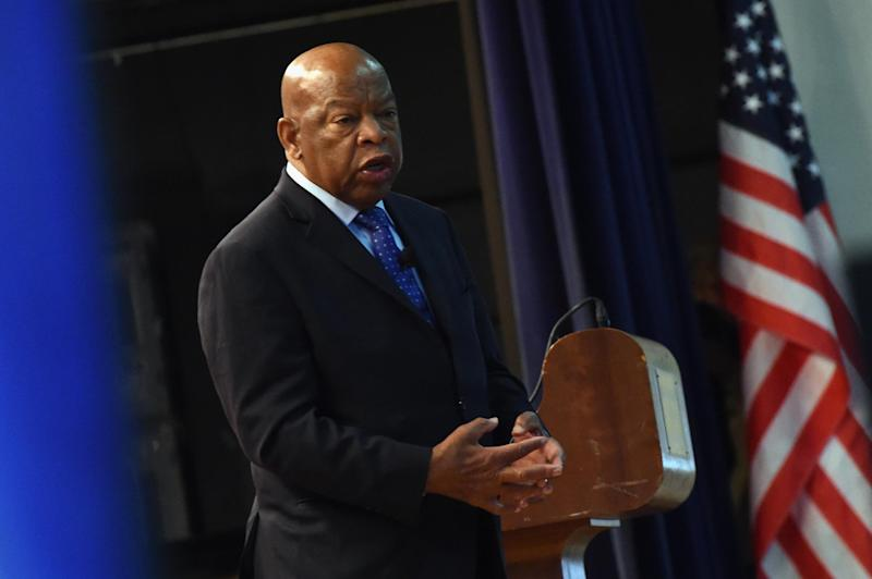Congressman John Lewis addresses audience attending a Nashville Public Library awards ceremony: Rick Diamond/Getty Images