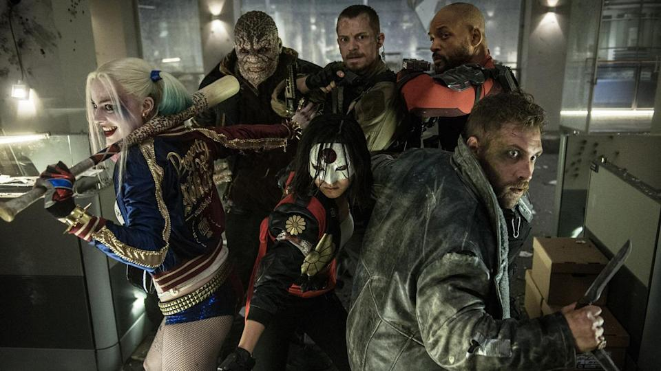 "<p>We briefly see a Joker-desecrated Robin costume in <i>BvS</i>, which teases this David Ayer-directed <a href=""https://www.yahoo.com/movies/film/suicide-squad"" data-ylk=""slk:team-up of DC supervillains"" class=""link rapid-noclick-resp"">team-up of DC supervillains</a> that will feature a scene pitting Batman (Affleck) against Joker (Jared Leto). The rogues also include Joker's squeeze, Harley Quinn (Margot Robbie) and master assassin Deadshot (Will Smith). </p>"