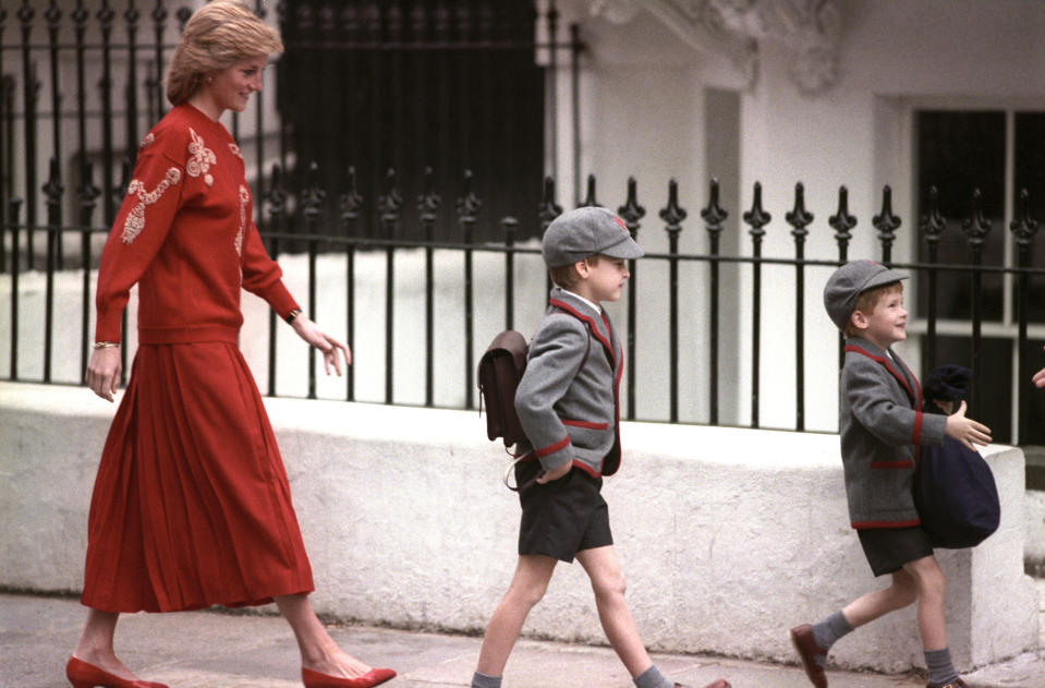 The younger prince joined his big brother William at Wetherby School in Notting Hill, London, on 11 September 1989. <em>[Photo: PA]</em>