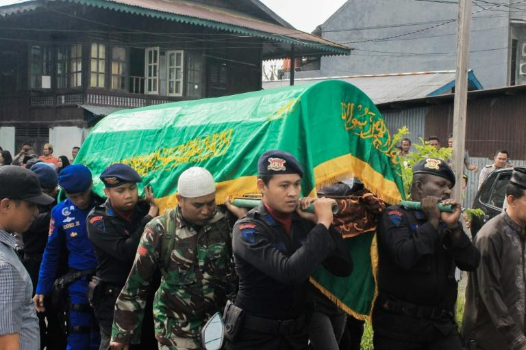 The funeral for the slain policeman was held on Wednesday