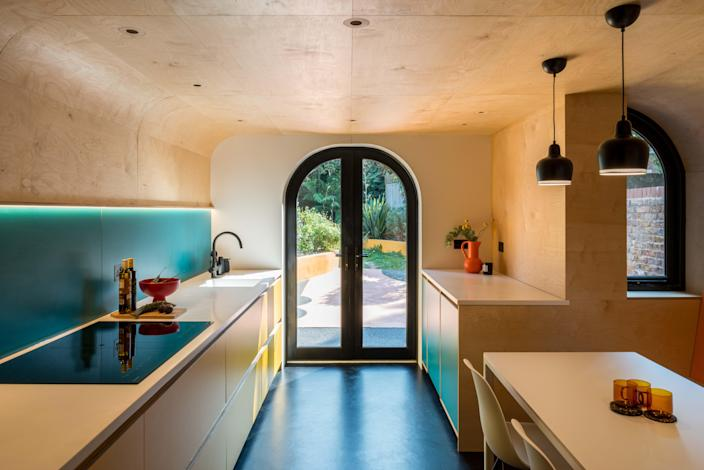 """A visit to Alvar Aalto's home and studio was particularly intriguing to the homeowners, who """"fell for the iconic Finn's use of clean lines and sinuous forms,"""" the designers say."""