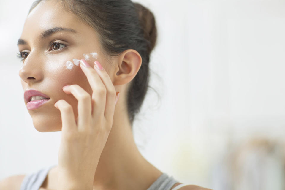 Don't forget to swipe on sunscreen around your eye area — a spot that people often forget about. (Photo: Getty Images)