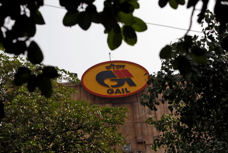 Logo of India's state-owned natural gas utility GAIL (India) Ltd is pictured in New Delhi