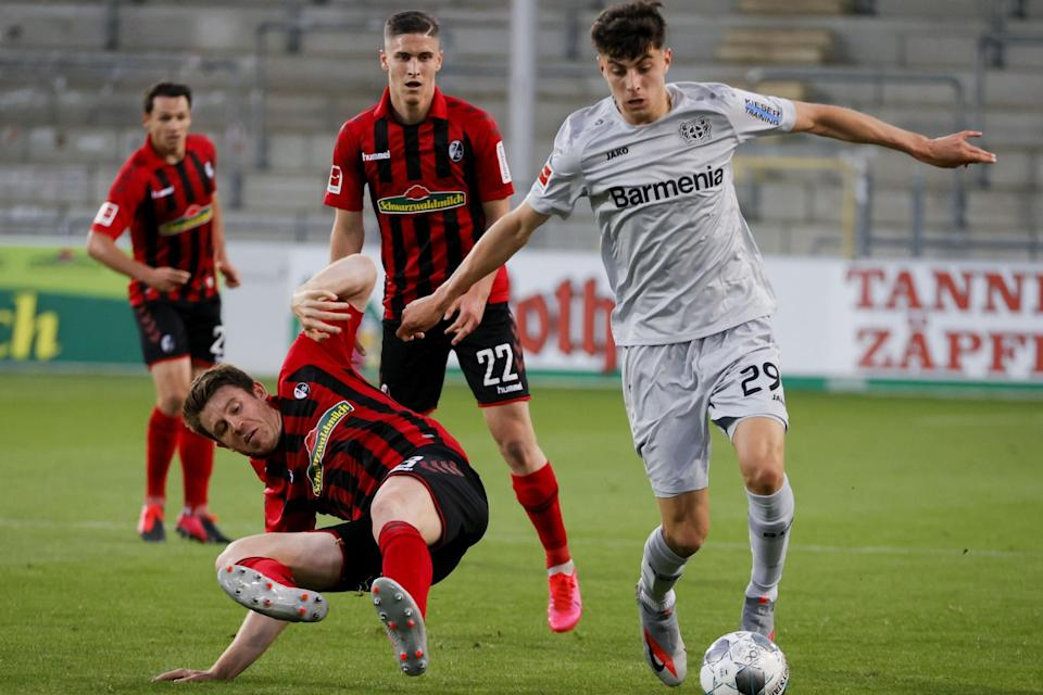 Havertz on the score sheet again before injury struck: POOL/AFP via Getty Images