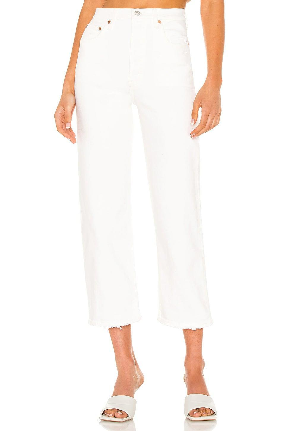 <p>Welcome the return of white-denim season with these <span>Levi's Ribcage Straight Ankle Jeans</span> ($98).</p>