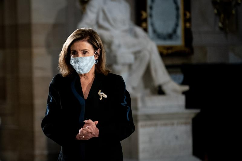 Speaker Nancy Pelosi knows protecting health care is a better campaign message than focusing on Donald Trump's tax returns. (Getty Images)