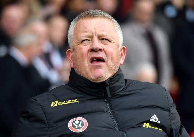 Sheffield United manager Chris Wilder has been encouraged by early work (Anthony Devlin/PA)