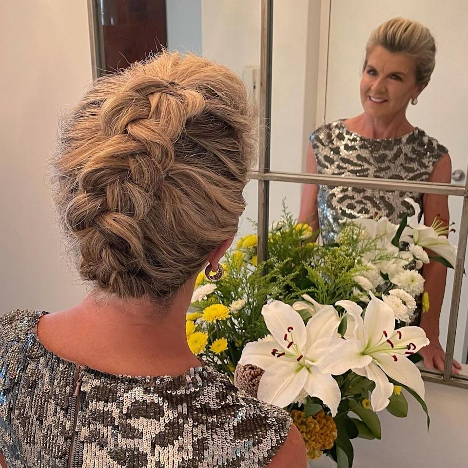 In January, Ms Bishop shared a photo of a braided up-do with the caption,