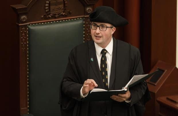 Speaker Nathan Cooper is looking at a new virtual voting system for MLAs.  (The Canadian Press - image credit)