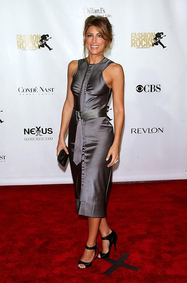 "Jennifer Esposito missed the spot with this dress, which is cinched in all the wrong places. Jim Spellman/<a href=""http://www.wireimage.com"" target=""new"">WireImage.com</a> - September 6, 2007"