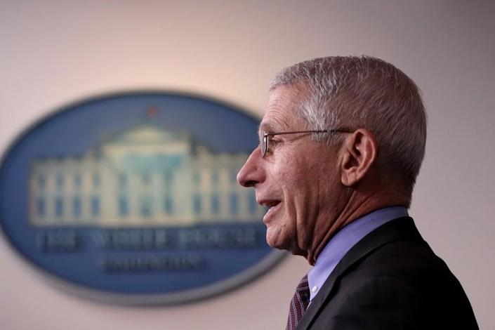 "Dr. Anthony Fauci, director of the National Institute of Allergy and Infectious Diseases, said a COVID-19 vaccine could be available earlier than expected if clinical trials produce overwhelmingly positive results. <span class=""copyright"">(Alex Wong / Getty Images)</span>"