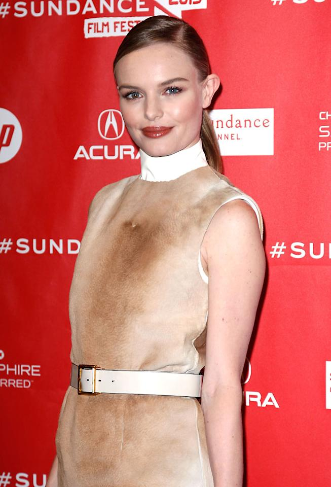 "PARK CITY, UT - JANUARY 23:  Actress Kate Bosworth attends the ""Big Sur"" Premiere during the 2013 Sundance Film Festival at Eccles Center Theatre on January 23, 2013 in Park City, Utah.  (Photo by Alexandra Wyman/Getty Images)"