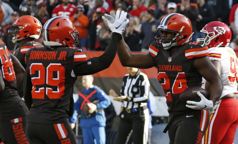 Image result for nick chubb and duke johnson