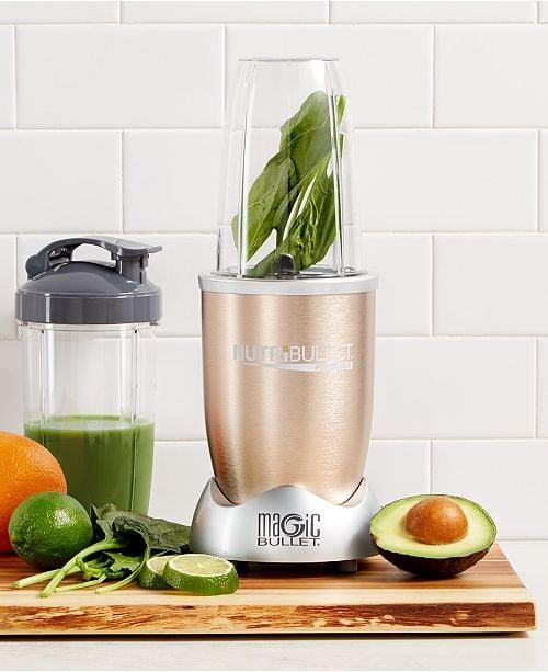 """<p>You can make just about anything in this <a href=""""https://www.popsugar.com/buy/Magic-Bullet-NutriBullet-Pro-488421?p_name=Magic%20Bullet%20NutriBullet%20Pro&retailer=macys.com&pid=488421&price=80&evar1=savvy%3Auk&evar9=46586150&evar98=https%3A%2F%2Fwww.popsugar.com%2Fsmart-living%2Fphoto-gallery%2F46586150%2Fimage%2F46586154%2FMagic-Bullet-NutriBullet-Pro&list1=shopping%2Cmacys%2Cbest%20of%202019&prop13=api&pdata=1"""" rel=""""nofollow"""" data-shoppable-link=""""1"""" target=""""_blank"""" class=""""ga-track"""" data-ga-category=""""Related"""" data-ga-label=""""https://www.macys.com/shop/product/nutribullet-pro-nb90901-900-watt-professional-series-by-magic-bullet?ID=1133040&amp;CategoryID=7554&amp;sizes=ELECTRICS_TYPE!!Air%20Fryer;;Blender;;Coffee%20%26amp%3B%20Espresso;;Electric%20%26amp%3B%20Tea%20Kettles;;Food%20Processor;;Juicer;;Mixers%20%26amp%3B%20Attachments;;Toaster%20%26amp%3B%20Toaster%20Ovens#fn=ELECTRICS_TYPE%3DAir%20Fryer%3B%3BBlender%3B%3BCoffee%20&amp;%20Espresso%3B%3BElectric%20&amp;%20Tea%20Kettles%3B%3BFood%20Processor%3B%3BJuicer%3B%3BMixers%20&amp;%20Attachments%3B%3BToaster%20&amp;%20Toaster%20Ovens%26sp%3D1%26spc%3D758%26ruleId%3D78%7CBOOST%20ATTRIBUTE%7CBOOST%20SAVED%20SET%26searchPass%3DmatchNone%26slotId%3D8"""" data-ga-action=""""In-Line Links"""">Magic Bullet NutriBullet Pro</a> ($80, originally $100).</p>"""