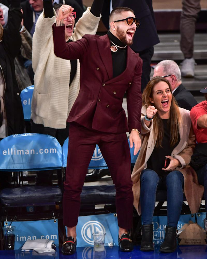 "Maluma just invented ""courtside formal""."