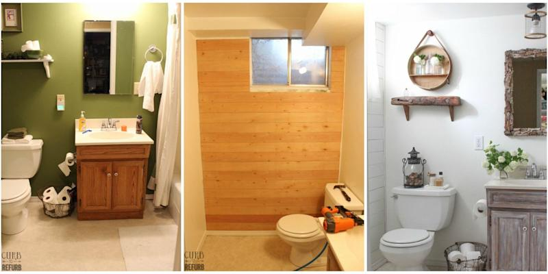 This Incredible Rustic Bathroom Makeover Cost Less Than - Bathroom refurb cost