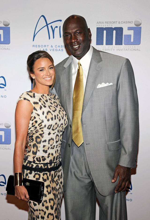 LAS VEGAS, NV - MARCH 30: Charlotte Bobcats owner Michael Jordan (R) and his fiancee model Yvette Prieto arrive at the 11th annual Michael Jordan Celebrity Invitational gala at the Aria Resort & Casino at CityCenter March 30, 2011 in Las Vegas, Nevada. (Photo by Ethan Miller/Getty Images for MJCI)
