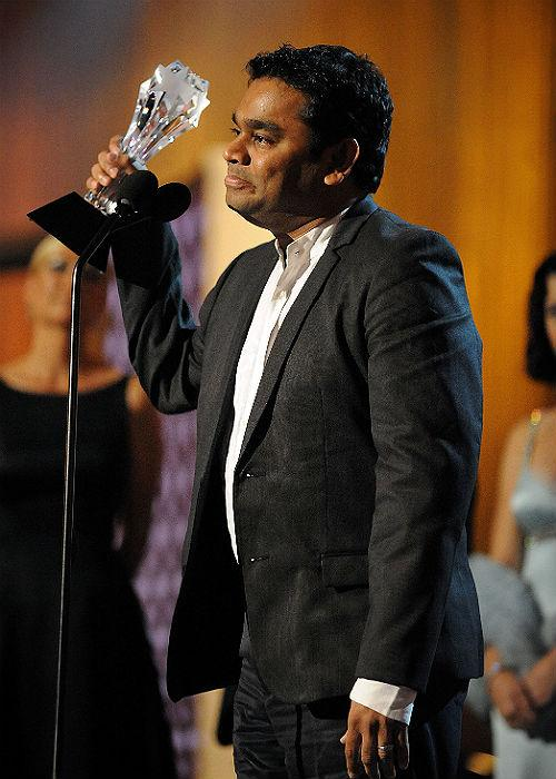 "<b>3. A.R. Rahman  </b><p> 	His first British movie was Shekhar Kapur's 'Elizabeth: The Second  Age'. Thereafter, many of his songs appeared in films like 'Inside Man',  'Lord of War', 'The Accidental Husband', etc. However, it was in 2008  that he scored for his Hollywood film, 'Couples Retreat' that won him  the BMI London Award for Best Score. Though he'd already won the hearts  of many in the country, it was in 2008 that this musical maestro won  international accolades for his work in the internationally acclaimed  movie, 'Slumdog Millionaire' for which, he <a href=""http://www.mensxp.com/entertainment/bollywood/3438-a-r-rahman-loses-out-on-another-golden-globe-.html"">grabbed a Golden Globe</a> and two Academy Awards. Later, he also composed for the Danny Boyle movie, '127 Hours, in 2010.</p>"
