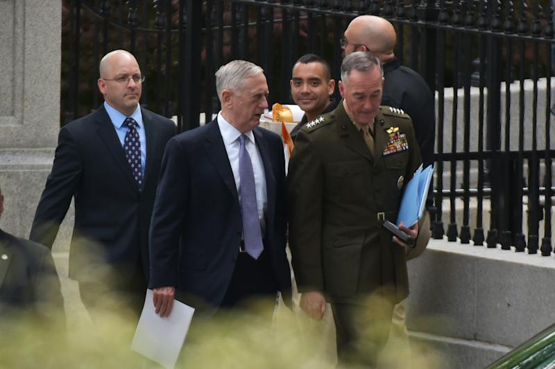Two Trump officials want to confront Iranian-backed fighters, but Defense Secretary James Mattis has balked at the idea.