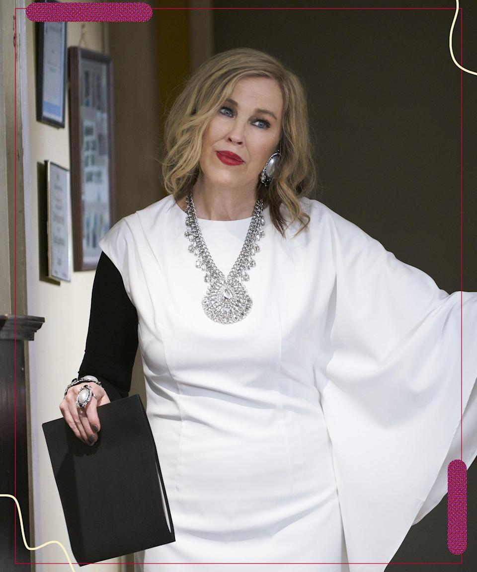 """Editorial use only. No book cover usage. Mandatory Credit: Photo by Cbc/ITV/Kobal/Shutterstock (9333233bd) S4 Catherine O'Hara """"Schitt's Creek"""" (Season 4) TV Series – 2018"""