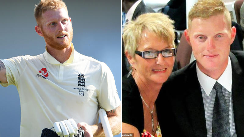 Ben Stokes, pictured here with mother Deb.