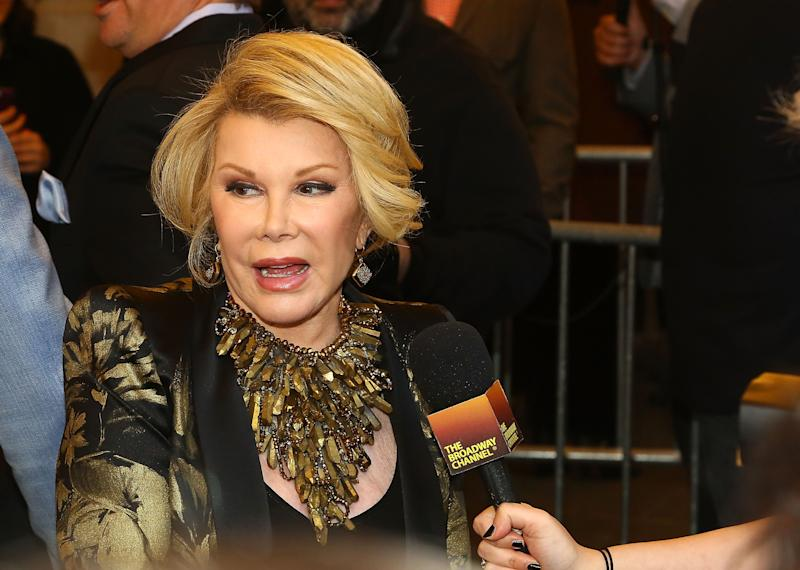 Joan Rivers on April 6, 2014 in New York City