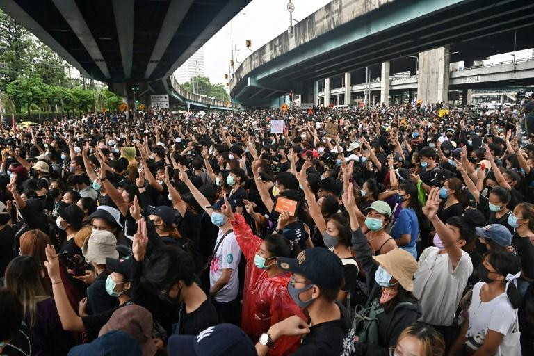 Thai pro-democracy protestors have adopted the three-finger salute from the dystopian 'Hunger Games' movies